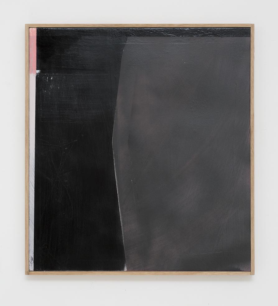 MICHAEL BENNETT  Hazy shade of winter  2016 mixed media on board 57.5 × 52 cm (framed)