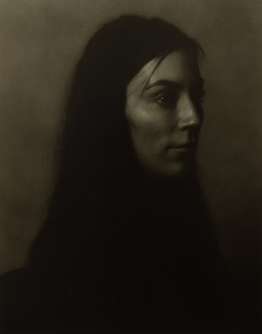 SIMON KENNEDY  Frau Ribbats  2017 silver gelatin print 20.3 ×25.4 cm 63 × 51.5 cm (framed)