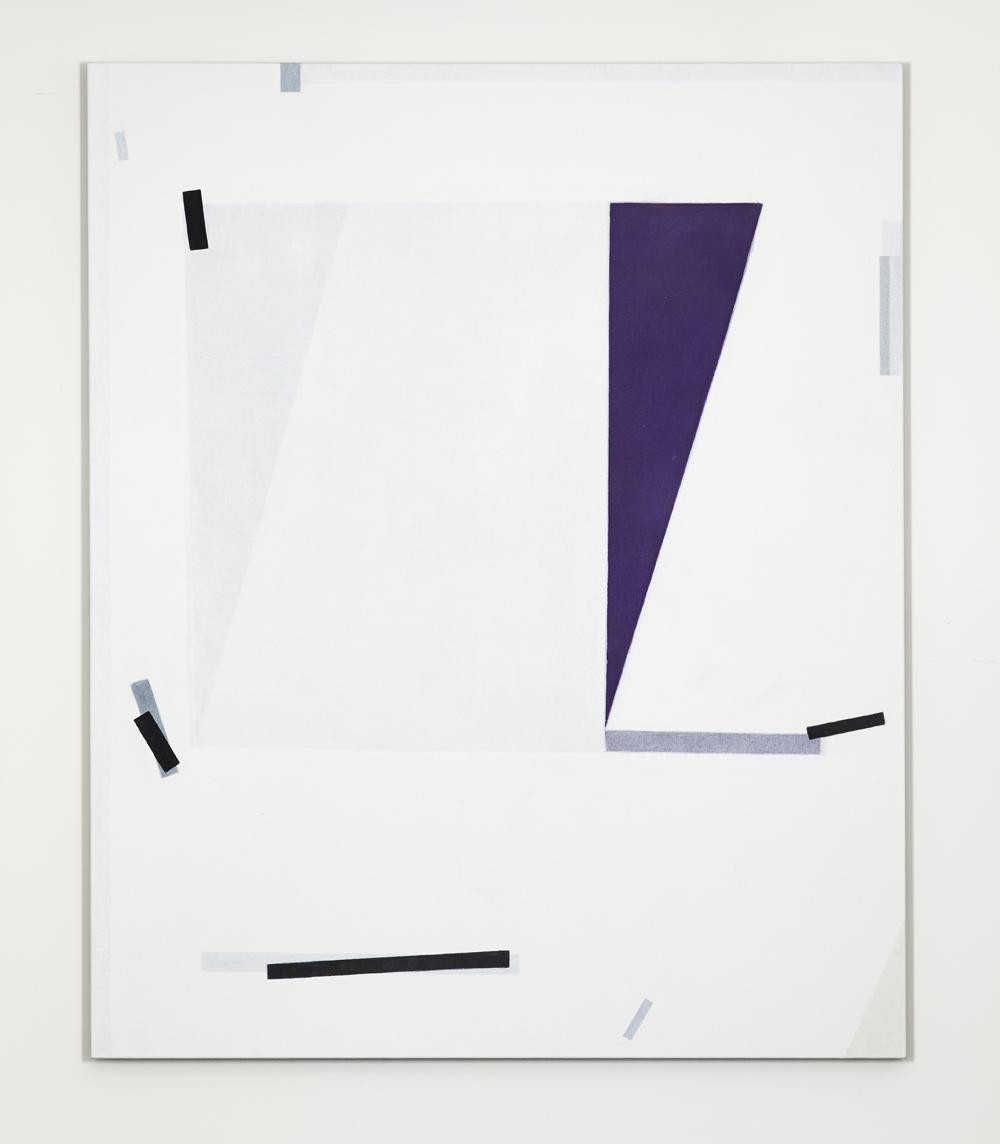 LYNNE EASTAWAY Wedge Purple 2017 acrylic on linen 168 ×138 cm