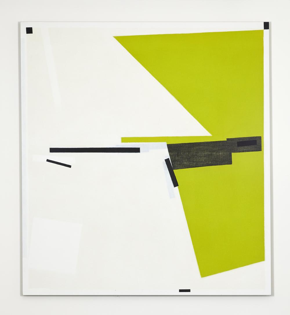 LYNNE EASTAWAY Wedge Green 2017 acrylic on linen 168 ×153 cm