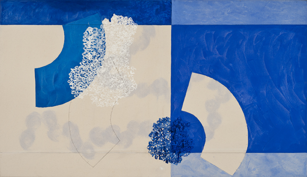 DENISE GREEN  In Dialogue with Stillness  2015 acrylic and pencil on canvas 90.5 × 159.5 cm