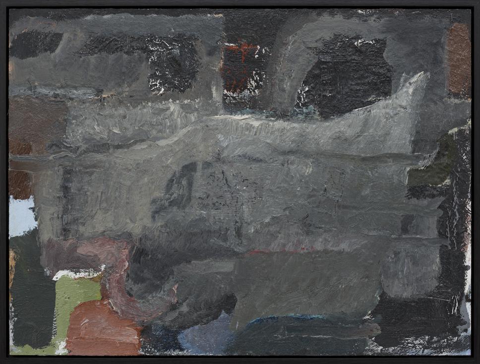 JAKE WALKER  Untitled  2013–15 oil on board 46 × 61 cm (framed)