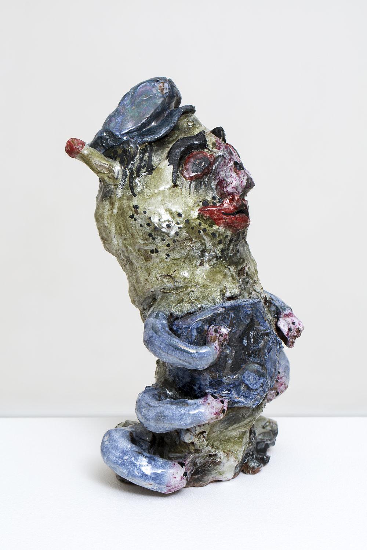 RYAN HANCOCK  Worm cast 2016 glazed ceramic 35 × 15 × 20 cm