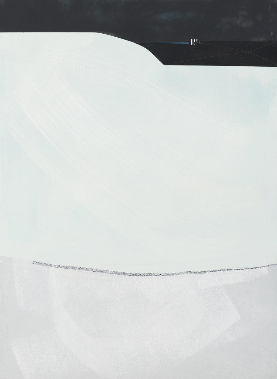 MICHAEL BENNETT  The Entry  2016 mixed media on board 155 × 115 cm (framed)
