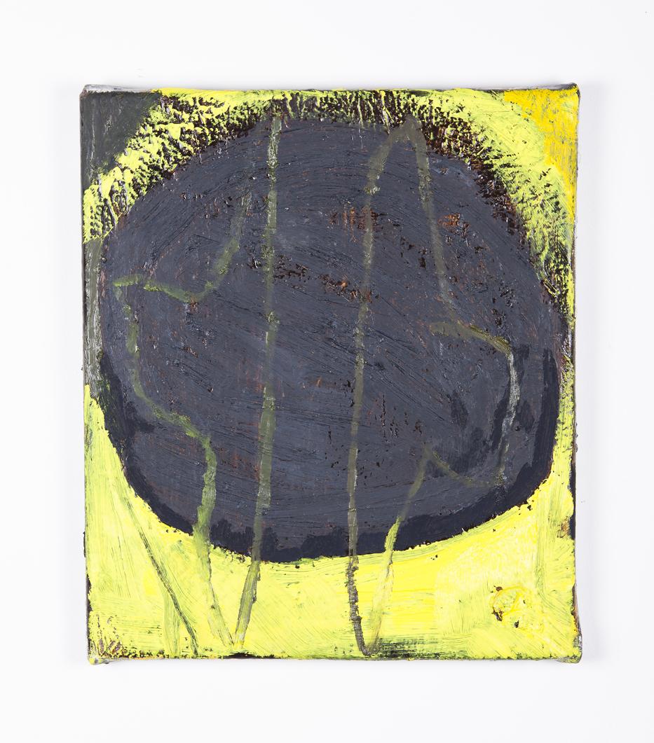 TEELAH GEORGE  Claude the cowboy  2016 oil and enamel paint on linen 36 × 30.5 cm