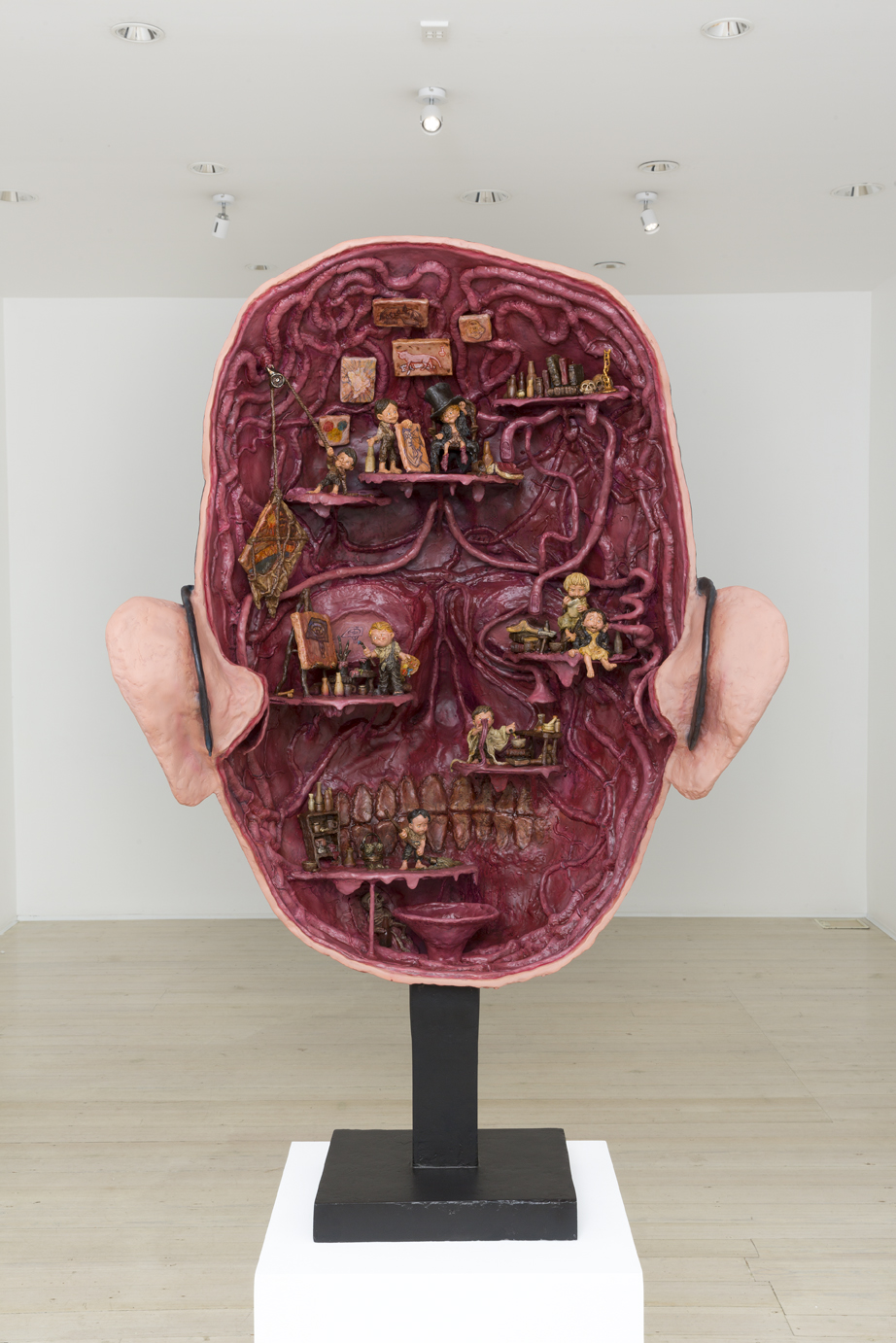 ROBIN HUNGERFORD  The Inexplicable Density of Meaning (Teaching Aid)  2016 fibreglass, polymer clay, polyurethane, acrylic paint 135 × 90 × 50 cm