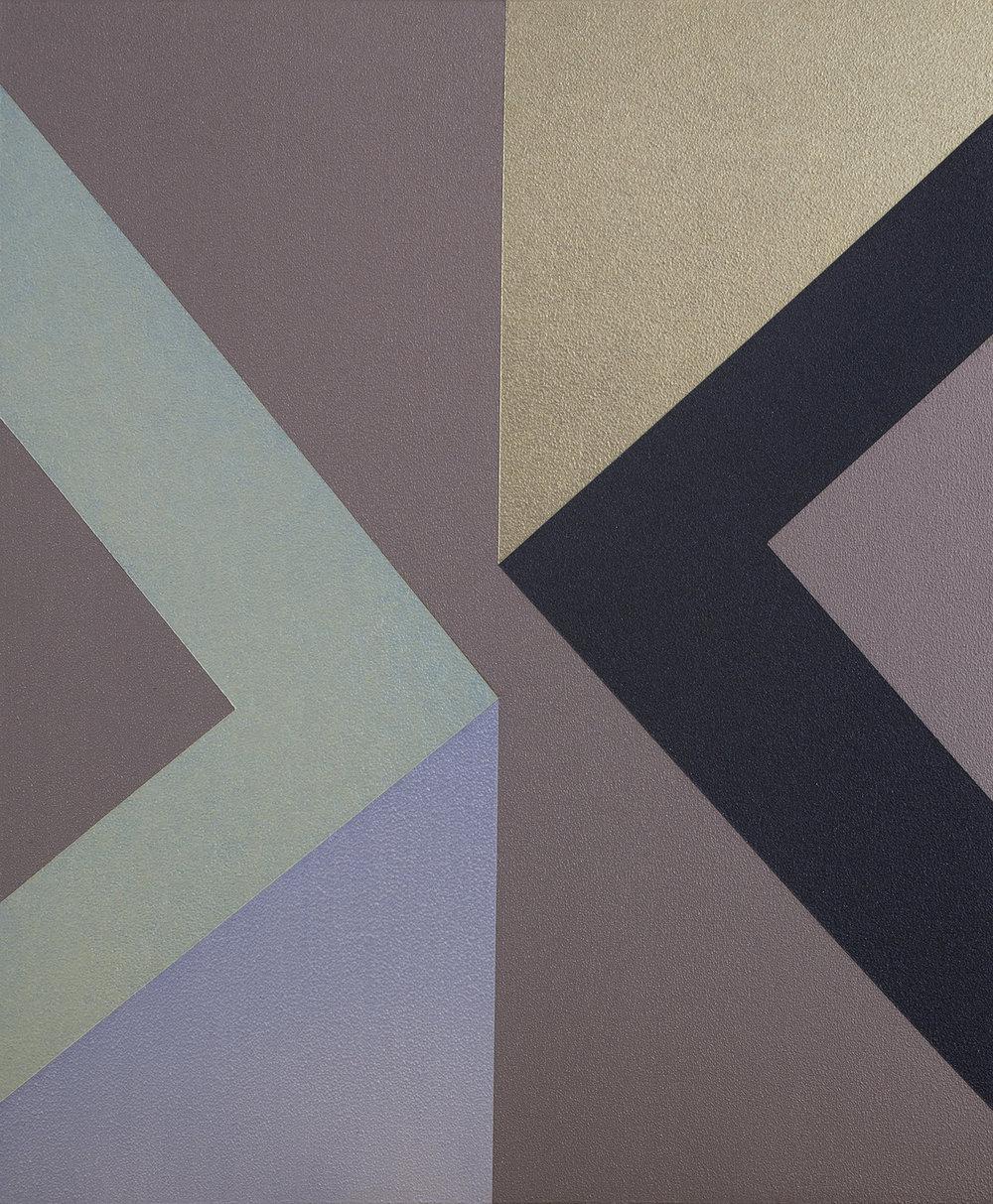 SAMARA ADAMSON-PINCZEWSKI  Gold Corner 2  2014 acrylic on wood panel 30 ×25 cm