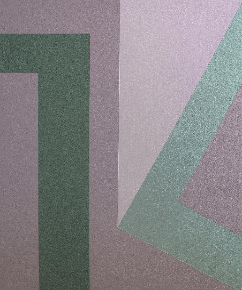 SAMARA ADAMSON-PINCZEWSKI  Green Corner 2  2014 acrylic on wood panel 30 ×25 cm