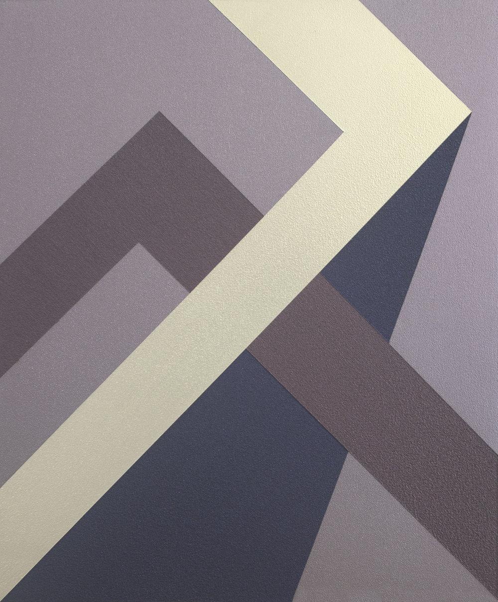 SAMARA ADAMSON-PINCZEWSKI  Red Corner 2  2014 acrylic on wood panel 30 ×25 cm