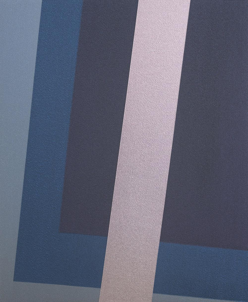 SAMARA ADAMSON-PINCZEWSKI  Violet Corner 2  2014 acrylic on wood panel 30 ×25 cm