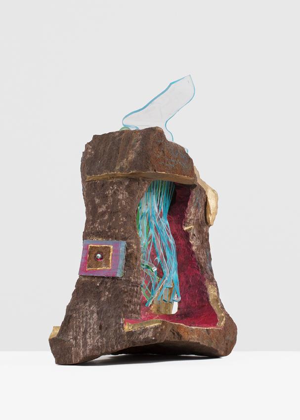 ANDRZEJ ZIELINSKI  Convalescing???  2016 Australian arkose sandstone, West Australian Variscite perspex, encaustic and acrylic paint 61 × 50 × 28 cm