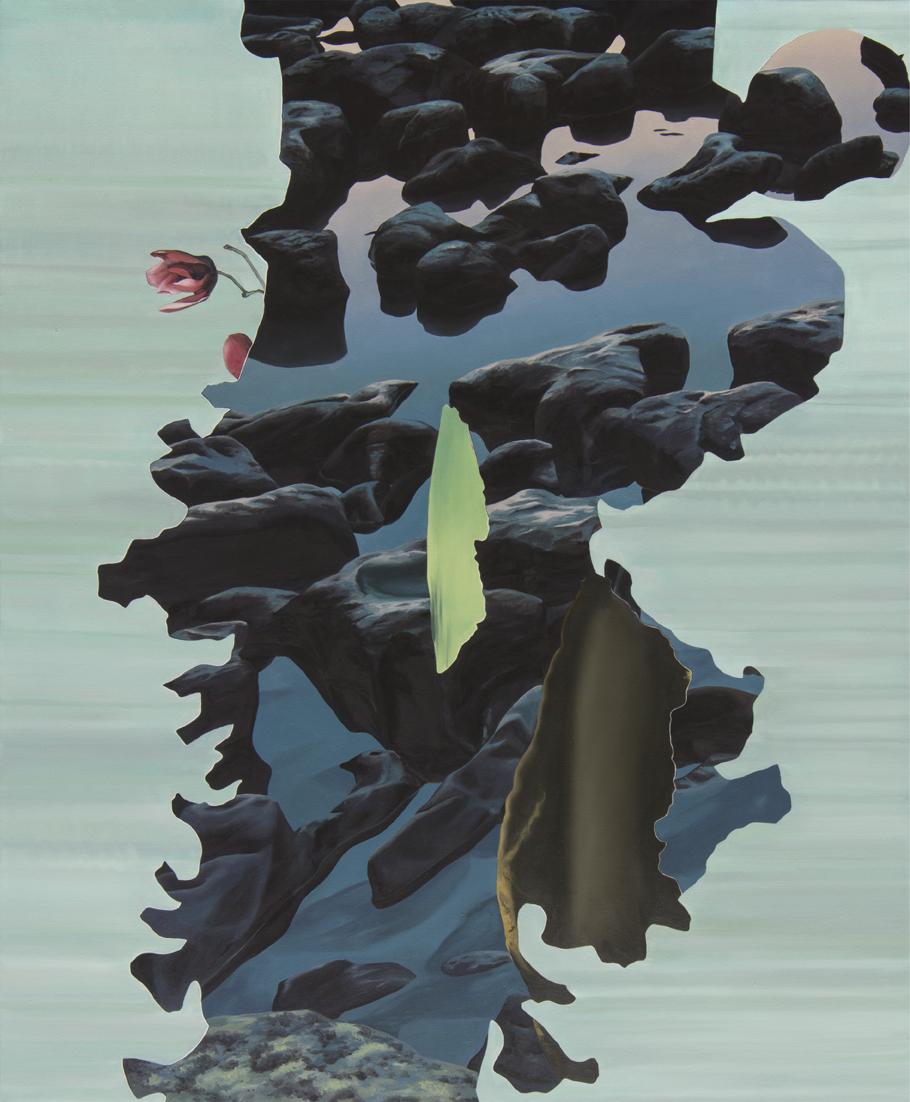 ALICE WORMALD  Rocks in water  2016 oil on linen 88 × 73 cm (framed)