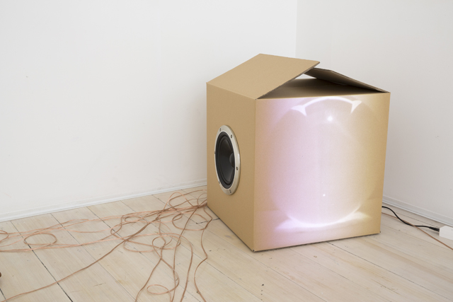 MICHAEL G. F. PRIOR Pipe Speaker (with sound recording and amplifier) 2015 (does not include projector) edition 1/3