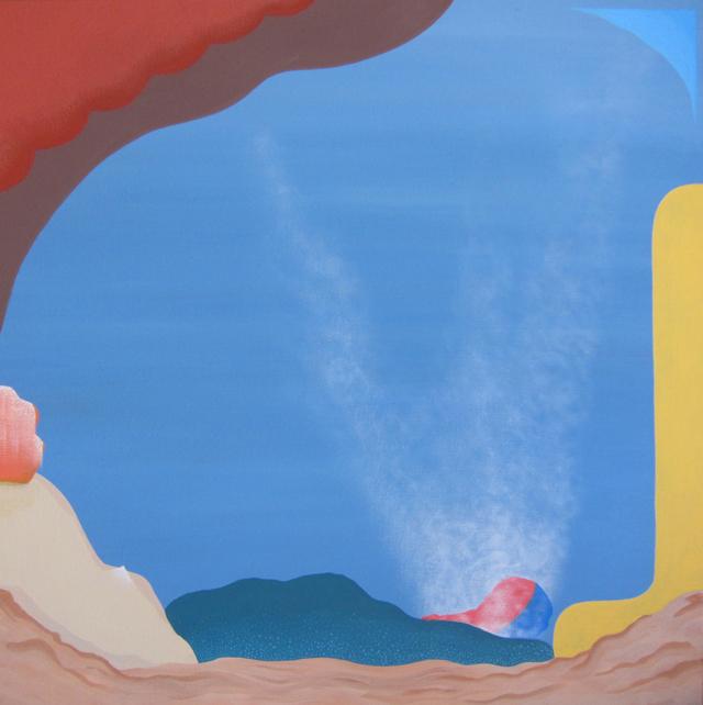MICHELLE HANLIN  Beach Scene  2012 acrylic on canvas 56 × 56 cm