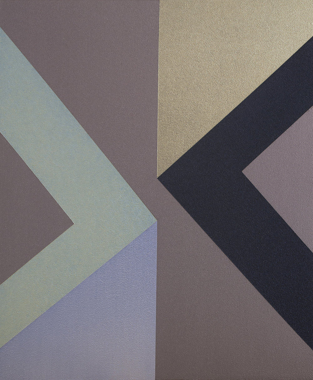 SAMARA ADAMSON-PINCZEWSKI  Gold Corner 2  2014 acrylic on wood panel 30 × 25 cm