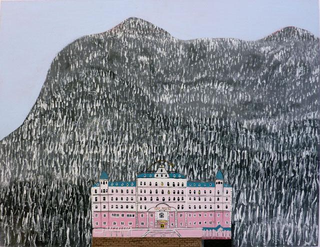MARC ETHERINGTON  Grand Budapest Hotel  2014 acrylic on marine plywood 61 × 80 cm