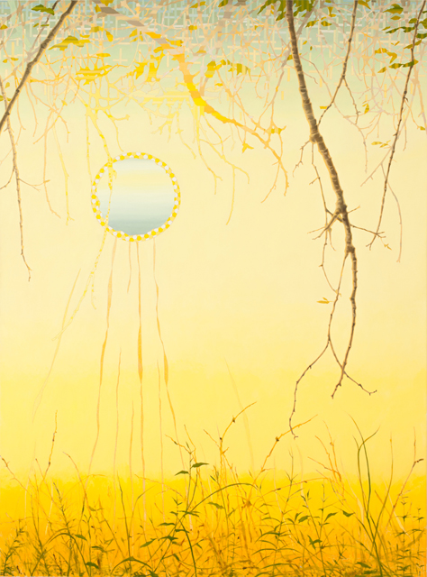 VIV MILLER  Pastorale  2012 oil, enamel and pencil on canvas 170 × 130 cm