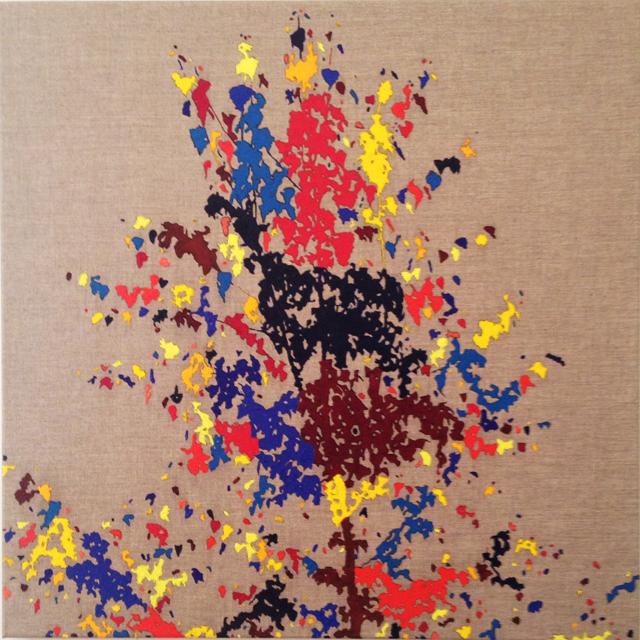 WHAT  Silver Birch  2015 oil on linen 84 × 84 cm