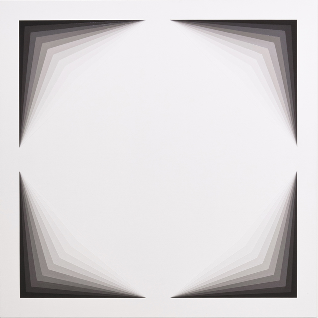 MAGDA CEBOKLI  Light Lines #1  2013 acrylic on linen 100 × 100 cm