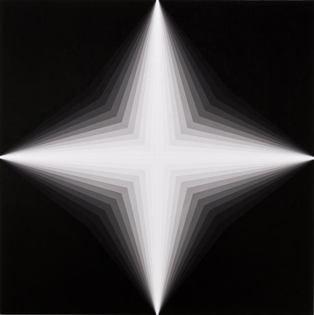 MAGDA CEBOKLI  Light Lines #2  2013 acrylic on linen 100 × 100 cm