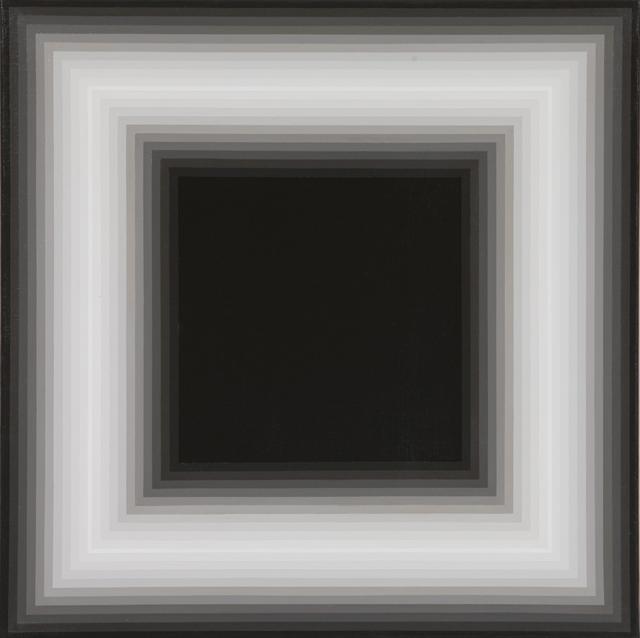 MAGDA CEBOKLI  Proximal #3  2008 acrylic on linen 46 × 46 cm