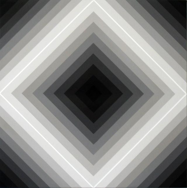 MAGDA CEBOKLI  Proximal #9  2008 acrylic on linen 46 × 46 cm