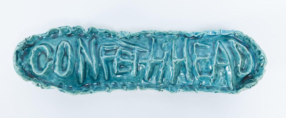 PAUL WILLIAMS Confetti Head 2015 Glazed earthenware 13 × 7 × 49 cm