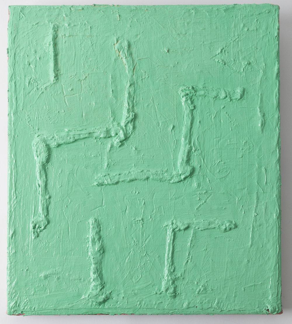 PAUL WILLIAMS  Mind adrift mowing  2015 Oil on canvas 40.5 × 35.5 cm