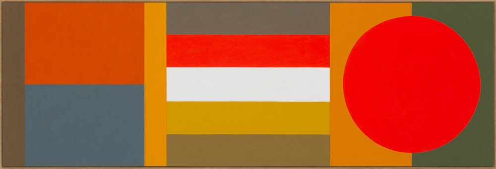 LOUISE TUCKWELL  1 + 1 = 3  2014 acrylic on board 60 × 180 cm