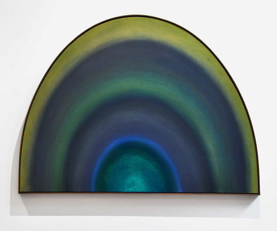 BELEM LETT  Tunnel Vision 2  2015 oil, luminescent pigment, on aluminium composite panel 120 × 90 cm