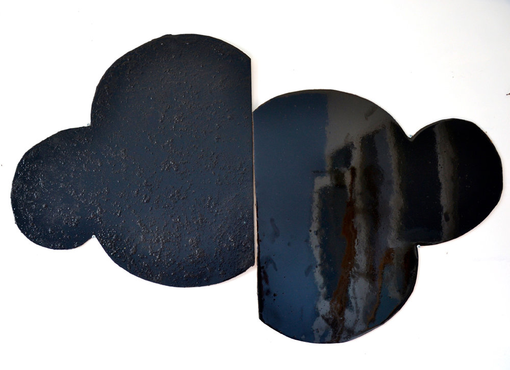 ELOISE KIRK Not Far Enough 2015 Resin, acrylic, pigment on craft wood dimensions variable