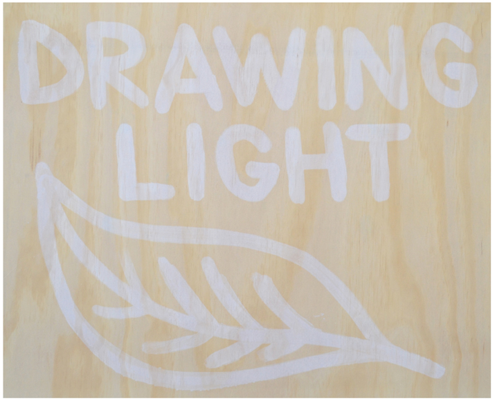 SEAN RAFFERTY  Drawing light  2015 Sun tanned plywood 81 × 100 cm