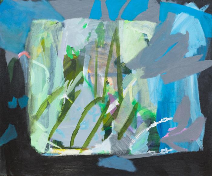 CATHERINE CLAYTON-SMITH   Screen 2016 acrylic on canvas 76 × 91 cm
