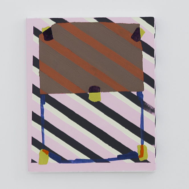ROHAN HARTLEY MILLS  Tobacco Pink 2016 oil on canvas 44 × 36.5 cm