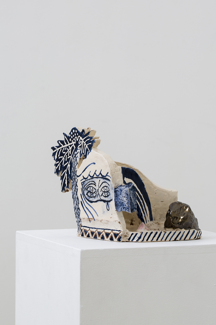 ETYAN MESSIAH  Peter O'Toole  2016  glazed ceramic, 17 × 23 × 20 cm