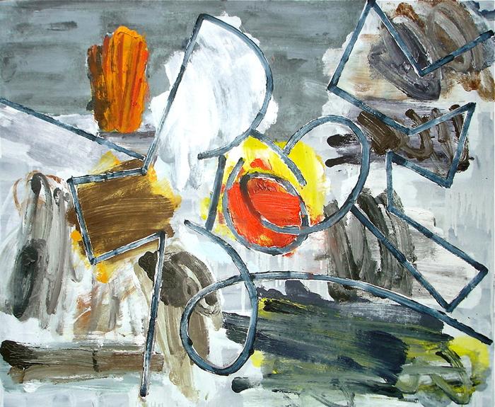 STUART WATTERS  Flatland  2015 oil on canvas 76 × 91 cm