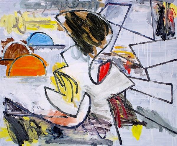 STUART WATTERS  Boomtown  2015 oil on canvas 76 × 91 cm