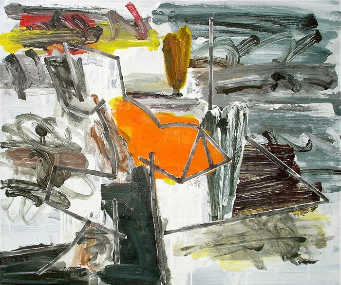 STUART WATTERS  The Elegance of Autonomy  2015 oil on canvas 76 × 91 cm