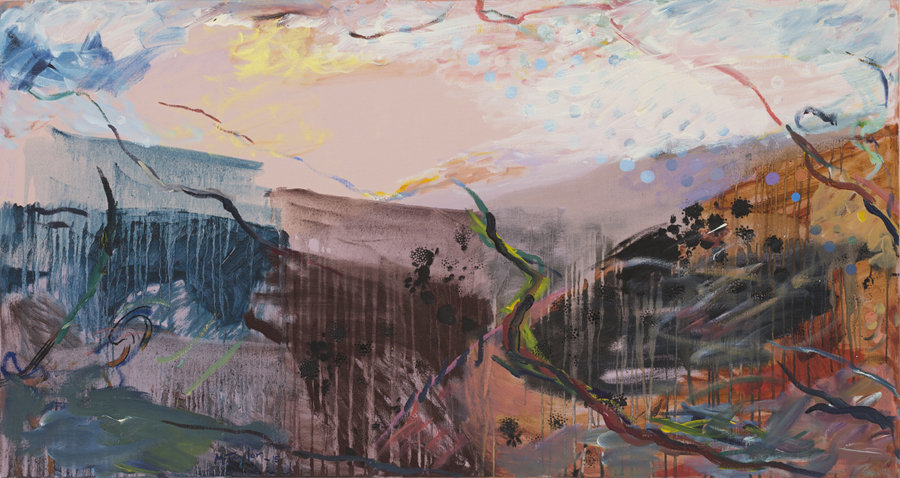 MICHAEL TAYLOR  Kybeyan  2015 oil on canvas 90 × 169 cm