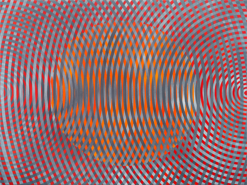 JOHN ASLANIDIS Sonic No. 45 2016 oil and acrylic on canvas 77 × 102 cm