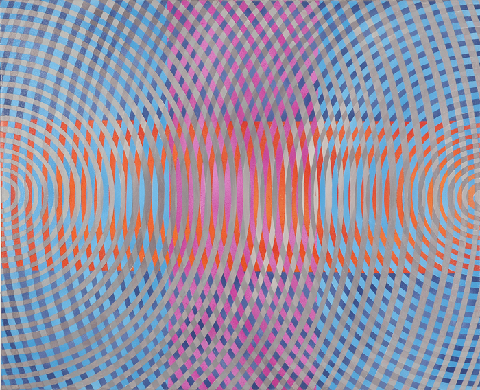 JOHN ASLANIDIS  Sonic sub intersection no.2  2010 oil and acrylic on canvas 66 × 81.5 cm