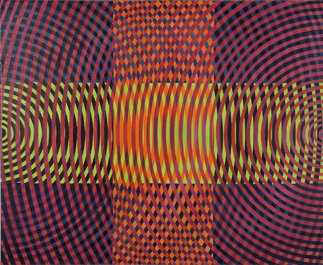 JOHN ASLANIDIS  Sonic sub intersection no.1  2010 oil and acrylic on canvas 66 × 81 cm