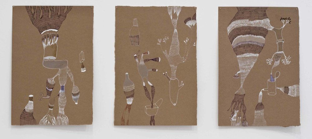 JADE PEGLER  Line Plots  2007 mixed media on paper 27.5 × 18.5 cm