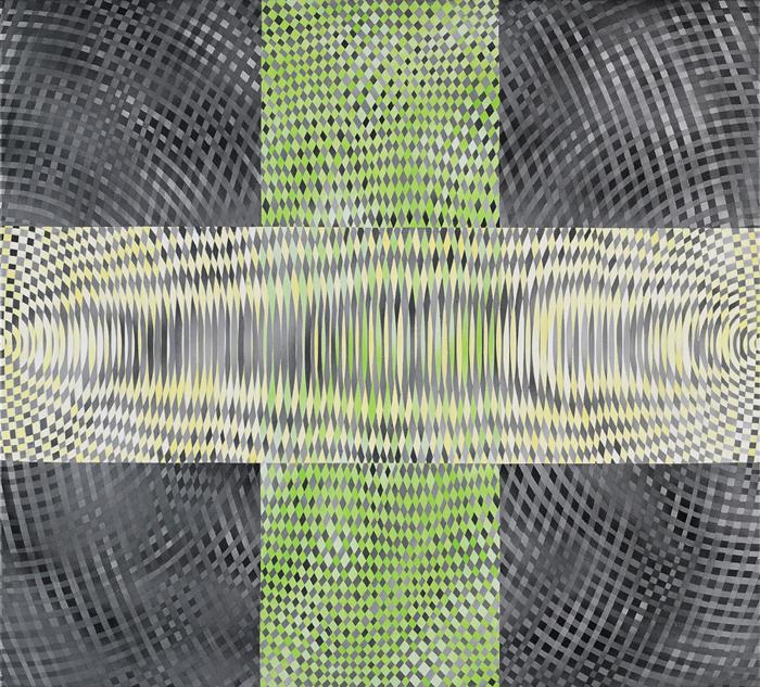 JOHN ASLANIDIS Sonic Intersection No.32008 acrylic on canvas 97 ×107 cm