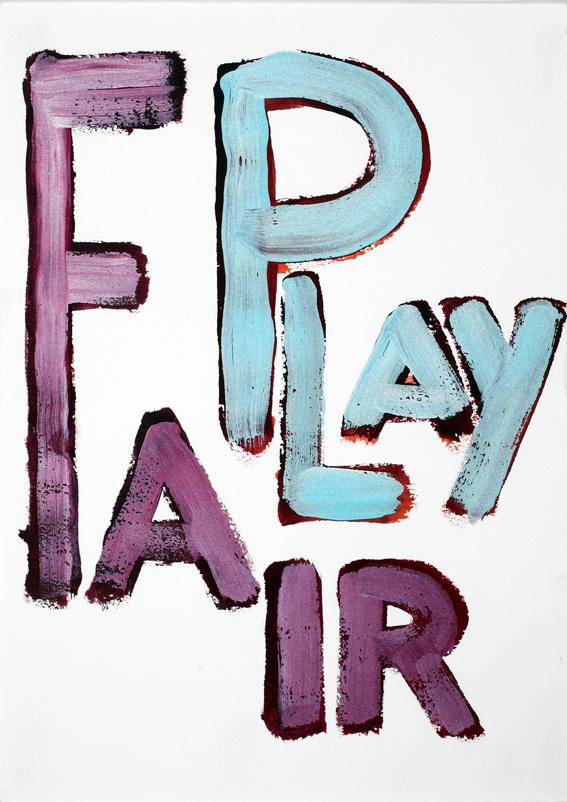 JELLE VAN DEN BERG  Fair play  2009 38 ×28 cm