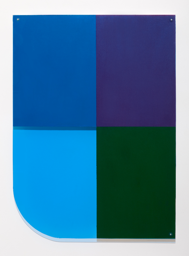 SIMON BLAU Blue corner  2011 acrylic and Perspex over plywood 80 × 58.5 cm