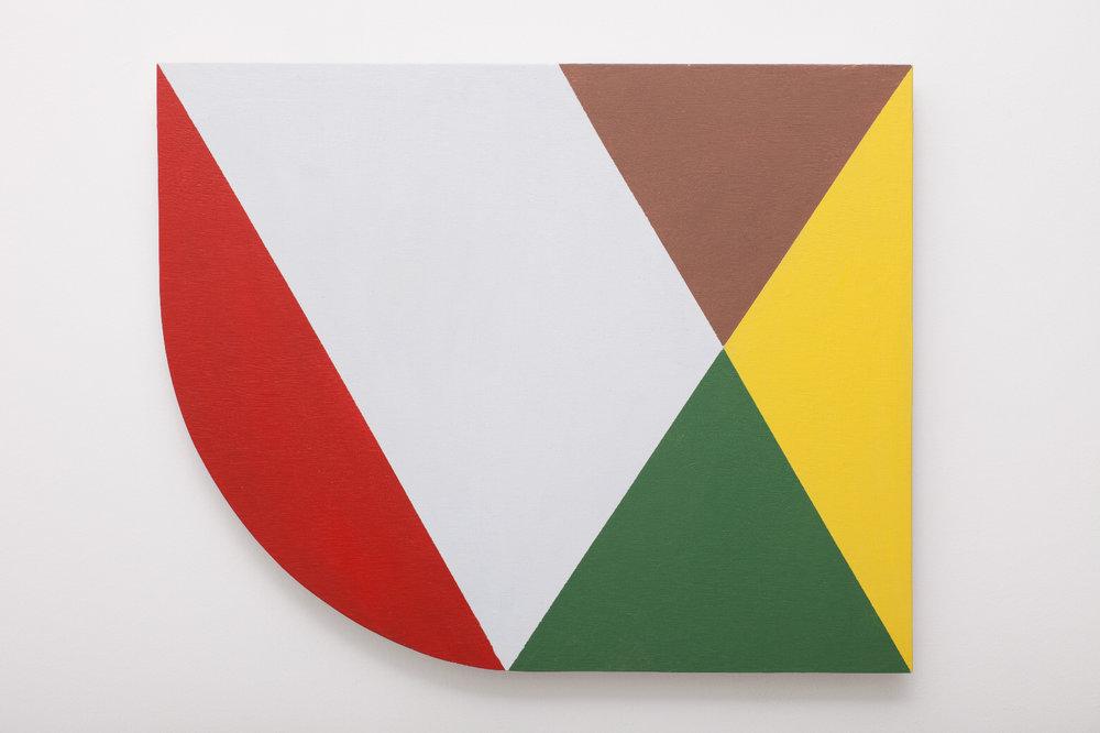 SIMON BLAU  Arc  2010 acrylic on plywood 49 ×40 cm