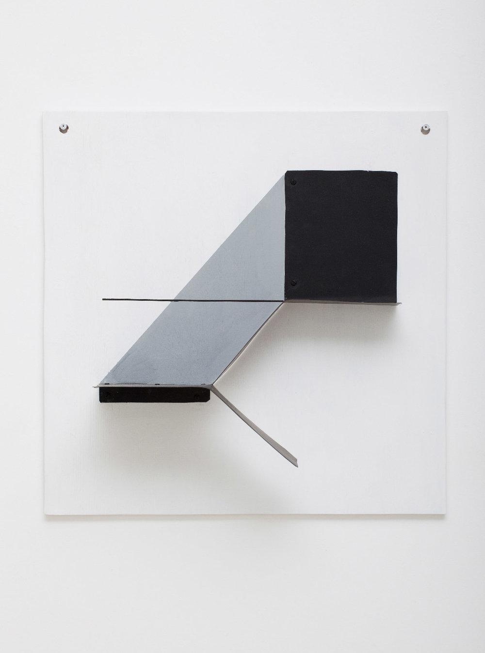 SIMON BLAU  Exit  2010 enamel on tin and plywood 50 ×50 cm