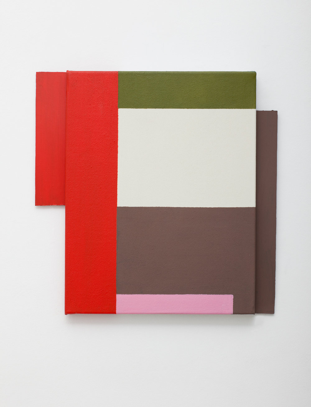 SIMON BLAU  Low Pink  2010 acrylic on canvas and masonite 35 × 36 cm