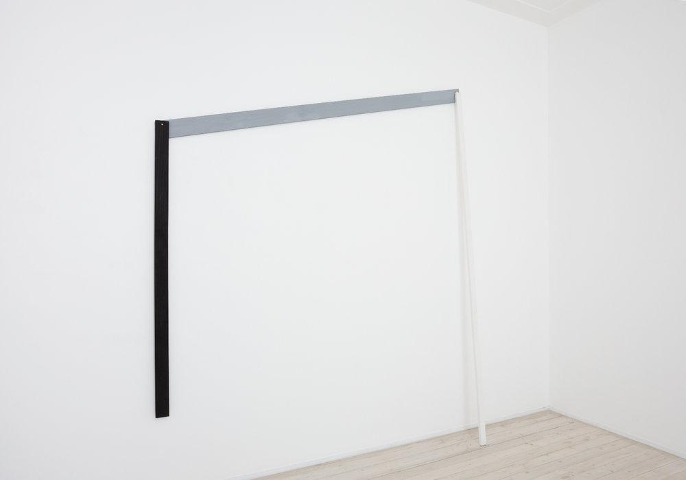 SIMON BLAU  White Prop 2011 gesso on timber 238 ×205 cm